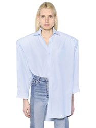 Vetements Padded Shoulders Cotton Poplin Shirt