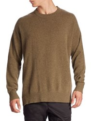 Zanerobe Knit Merino Wool Sweater Military Green