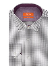 Tallia Orange Slim Fit Checked Sportshirt Grape