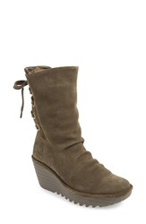 Women's Fly London 'Yada' Boot Sludge Oil Suede