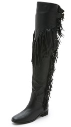 See By Chloe Fringe Tall Boots Nero