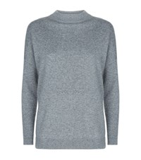 Allude High Neck Cashmere Sweater Female Grey