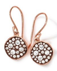 18K Rose Gold Stardust Flower Mini Diamond Drop Earrings Ippolita Pink