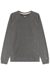 Rag And Bone Rag And Bone Cotton Sweatshirt With Logo Print Grey