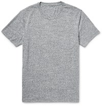 Club Monaco Slub Cotton Blend Jersey T Shirt Gray