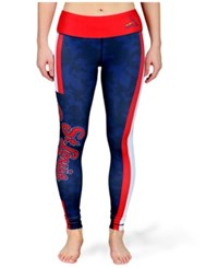 Forever Collectibles Women's St. Louis Cardinals Team Stripe Leggings Red