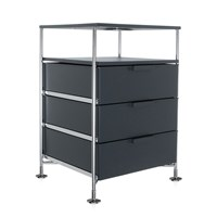 Kartell Mobil 3 Drawer Tray Opaque Slate