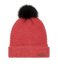Burberry Shoes And Accessories Fur Pom Pom Beanie Female Burnt Orange