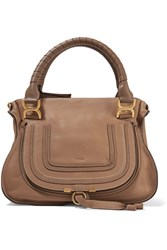 Chloe The Marcie Medium Textured Leather Tote Tan