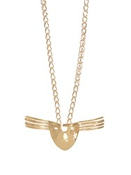 Aurelie Bidermann Melina Mask Gold Plated Necklace Yellow Gold
