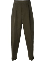 Paul Smith Front Pleat Trousers Green