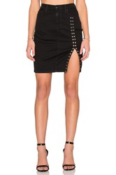 Joe's Jeans Scarlette Showcase Split Pencil Skirt Black