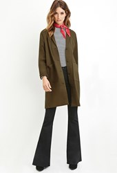 Forever 21 Contemporary Boxy Cotton Jacket Brown