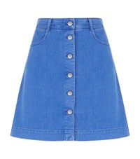 Stella Mccartney Button Down Denim Skirt Female