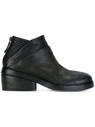Marsell Rear Zip Ankle Boots Black