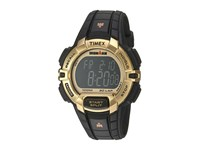 Timex Ironman Rugged 30 Hollywood Full Size Resin Strap Black Gold Tone Watches