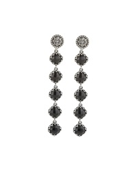 Konstantino Long Silver And Onyx Dangle Earrings Black