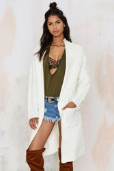 Nasty Gal Hot Blooded Boucle Midi Cardigan