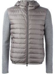 Moncler Padded Front Cardigan Grey