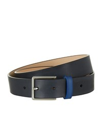 Paul Smith Accessories Two Tone Leather Belt Unisex Blue