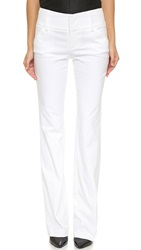 Alice Olivia Olivia Wide Waistband Pants White