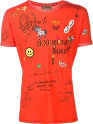 Andreas Kronthaler For Vivienne Westwood 'Sexercise' T Shirt Yellow Orange