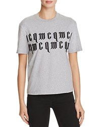 Mcq By Alexander Mcqueen Classic Embroidered Cotton Tee Grey Melange