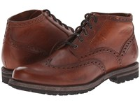Frye Phillip Lug Wingtip Chukka Cognac Oiled Vintage Men's Lace Up Wing Tip Shoes Brown