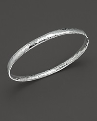 Ippolita Sterling Silver Basic Hammered Bangle No Color