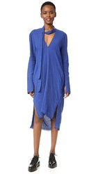 Kitx Fall Back V Neck Dress Paris Blue