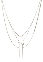 S.Oliver Necklace Gun Metal Silver
