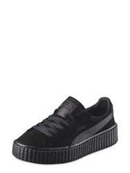 Puma Select Rihanna Black Satin Creeper Sneakers
