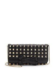 Saks Fifth Avenue Bessie Leather Shoulder Bag Black