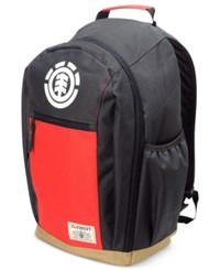Element Men's Sparker Coloblocked Backpack Red Black