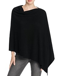 Eileen Fisher Asymmetric Merino Wool Poncho Black