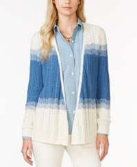 American Living Colorblock Waterfall Cardigan Only At Macy's