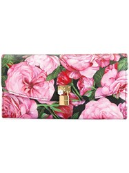 Dolce And Gabbana Padlock Detail Wallet Pink And Purple
