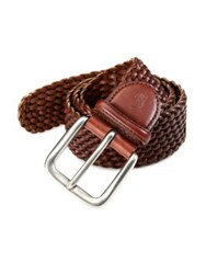 Polo Ralph Lauren Distressed Leather Belt Brown