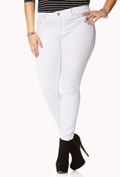 Forever 21 Colored Stretchy Skinny Jeans White