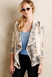 Biya Medallion Hooded Cardigan Ivory