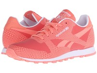 Reebok Classic Runner Summer Brights Coral Rosette White Women's Classic Shoes Pink