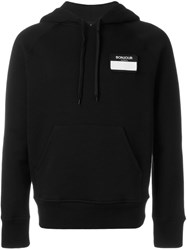 Ami Alexandre Mattiussi Name Tag Patch Hoodie Black
