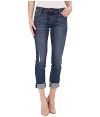 Kut From The Kloth Catherine Boyfriend In Uplift W Dark Stone Base Wash Uplift Dark Stone Base Wash Women's Jeans Blue