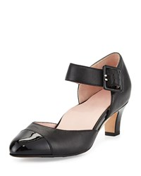 Taryn Rose Toody Leather Mary Jane Pump Black