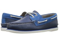 Sperry Gold A O 2 Eye Two Tone Navy Blue Men's Moccasin Shoes Multi