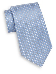 English Laundry Windowpane Check Silk Tie Light Blue