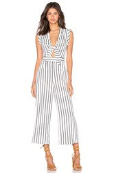 Lucy Paris Front Tie Jumpsuit White
