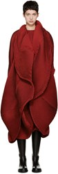 Issey Miyake Red Pleated Coat