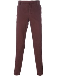 Kenzo Slim Fit Chinos Red