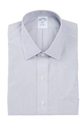Brooks Brothers Micro Stripe Long Sleeve Slim Fit Shirt Gray